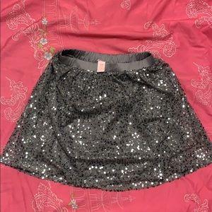 Girls gray/silver sequin skirt